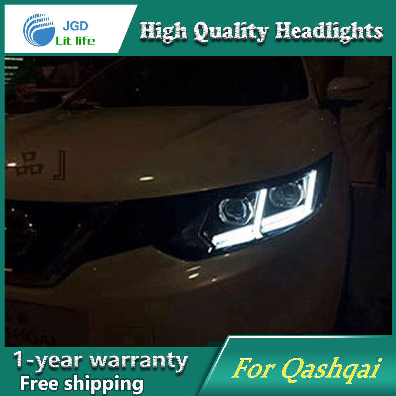 high quality Car Styling for Nissan QASHQAI 2016 Headlights LED Headlight DRL Lens Double Beam HID Xenon Car Accessories akd car styling for nissan teana led headlights 2008 2012 altima led headlight led drl bi xenon lens high low beam parking
