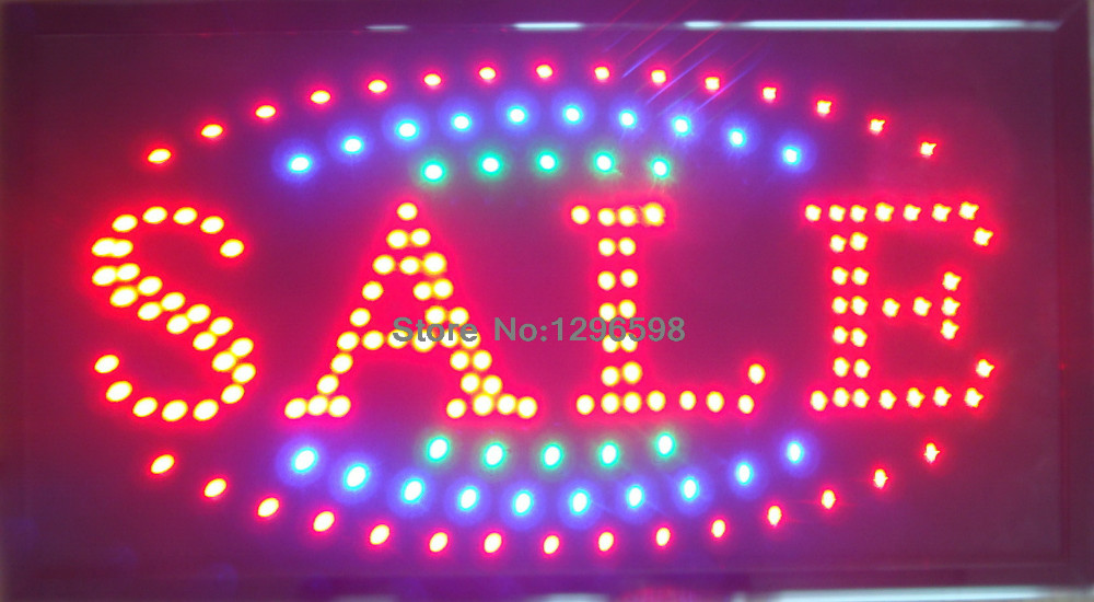directing selling 10X19 Inch custom Graphics indoor Ultra Bright led shop product discount sale sign