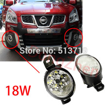 2015 new auto DRL Daytime running light fog lamps for NISSAN QASHQAI TEANA Renault 18W 6500K car styling