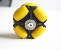 70mm Omni Directional Wheels 70mm W Coupling 5mm Bore For Toy Car And Robot Wheel
