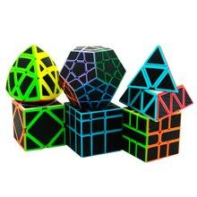 6 шт./компл. Lefun Magic Cube Mastermorphix + SQ-1 + Megamin + зеркальный блок + пирамин + косой черный стикер кубик рубиков