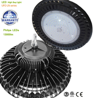 DLC ETL CE 100W UFO LED Light High Bay Luminaire for Commercial and Industrial Buildings, 13000lm 5 Years Warrantee