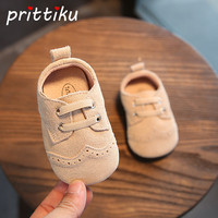 Infant Baby Boy Girl Newborn Kids Genuine Leather Soft Bottom Non Slip First Walkers Shoes