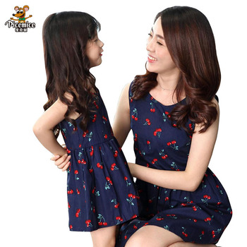 Fashion Family Clothing Cotton Women Girls Dress Mother Daughter Dress Mom And Daughter Dresses Family Matching Clothes