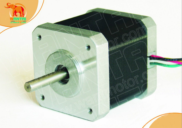 4-Leads Nema 17 Stepper Motor 4200g.cm,2.4A,0.9degree,5mm shaft , 2phases CNC of wantai 3D Reprap Printer Makerbot 42BYGHM810