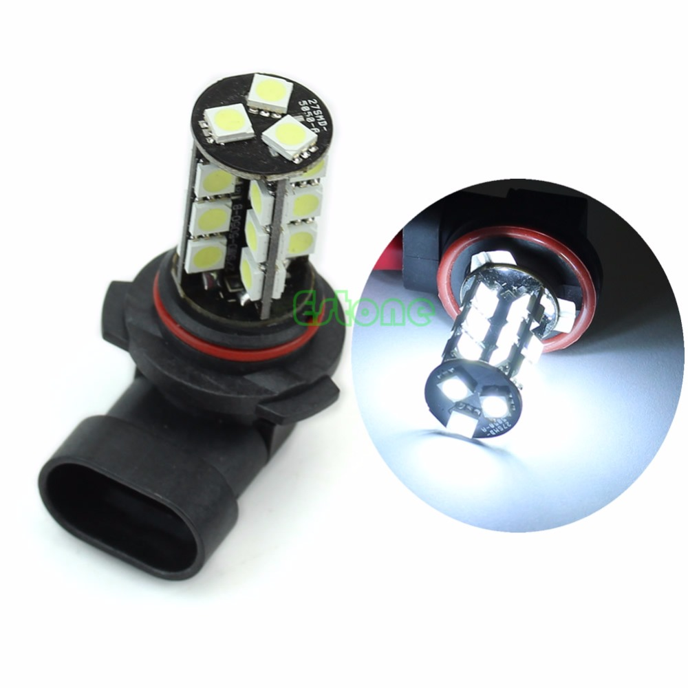 1Pc  9006 HB4 27-LED Car LED White Fog Light Headlight Driving DRL Lamp Bulb