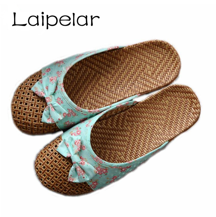 2018 New Women' Flat Slippers Linen Home Slippers Female Bathroom Slippers Indoor Shoes Summer Hemp Beach Flip-flop Laipelar 2017 hot sale women flip flop slippers female summer indoor anti slip slippers soft lightweight shoes size 36 40 available