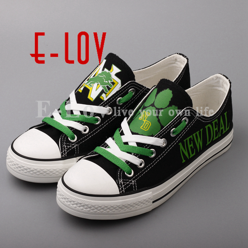E-LOV New Print Shoes New Deal Lions Canvas Shoes NACC Fashion Low Top Lace Black Shoes Big Size Drop Shipping e lov women casual walking shoes graffiti aries horoscope canvas shoe low top flat oxford shoes for couples lovers