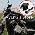 Legal Motocicleta Alumínio Billet V-escudo Chifre Capa Para Harley Softail/Dyna/Glide/Big Twin/Electra Chrome/Preto