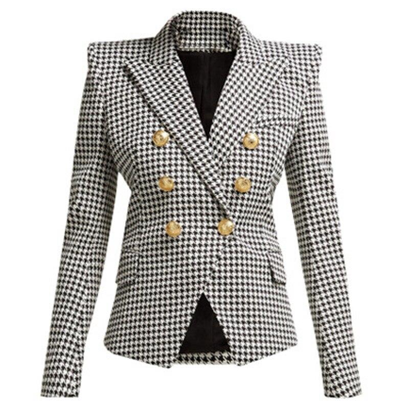 Hohe QualitÄt Neueste Mode 2019 Designer Blazer Frauen Abnehmbare Kapuze Zweireiher Casual Blazer Jacke Modernes Design Anzüge & Sets