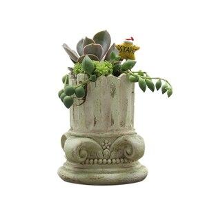 Image 5 - Roogo Flower Pot Europe Plant Pot Vintage Bonsai Garden Succulent Pots Home Decor Outdoor Flowerpot For Balcony Decorations