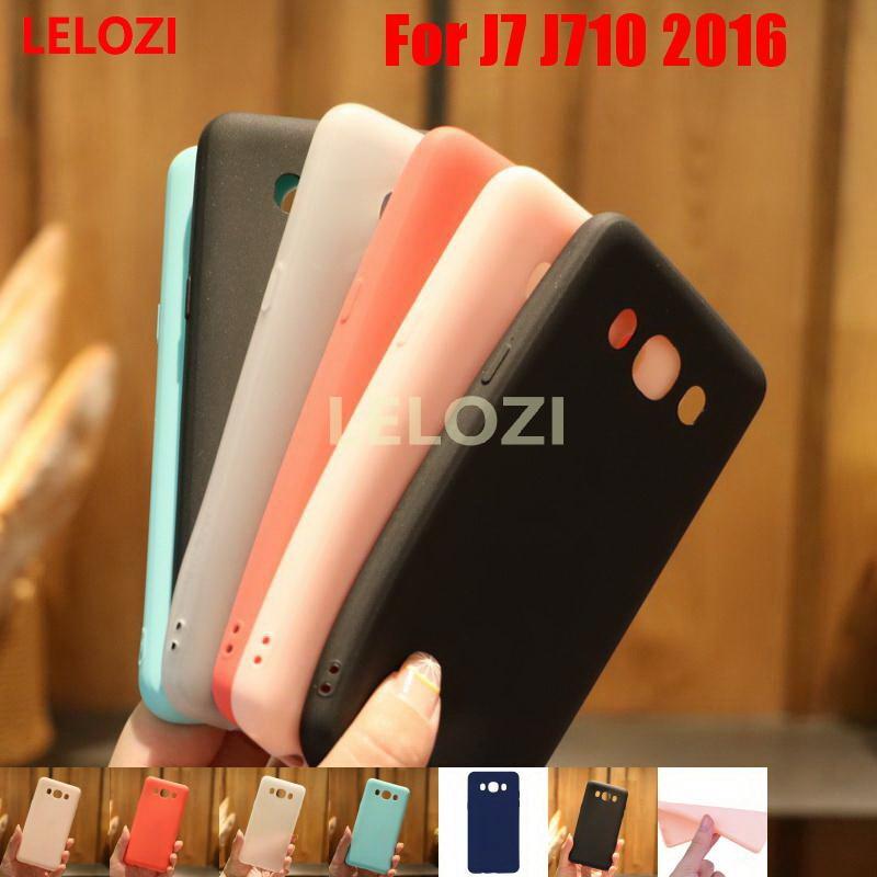LELOZI Candy Colors TPU Phone Back Phon Carcasa Etui Case fundas For Samsung Galaxy J7 J710 2016 Cheap Blue Best Beautiful