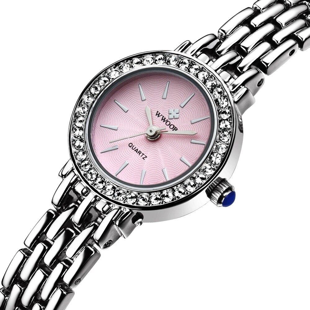 Top Brand WWOOR Relogio Feminino Clock Female Stainless Steel Watch Ladies Casual Women WristWatch(Original 7T35 Movement)