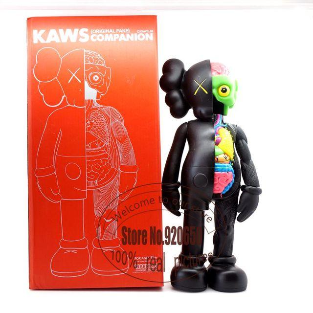 16 pulgadas Kaws original fake Kaws disecado companion 3 color negro marrón y gris de lujo morden regalo 100% de imagen real