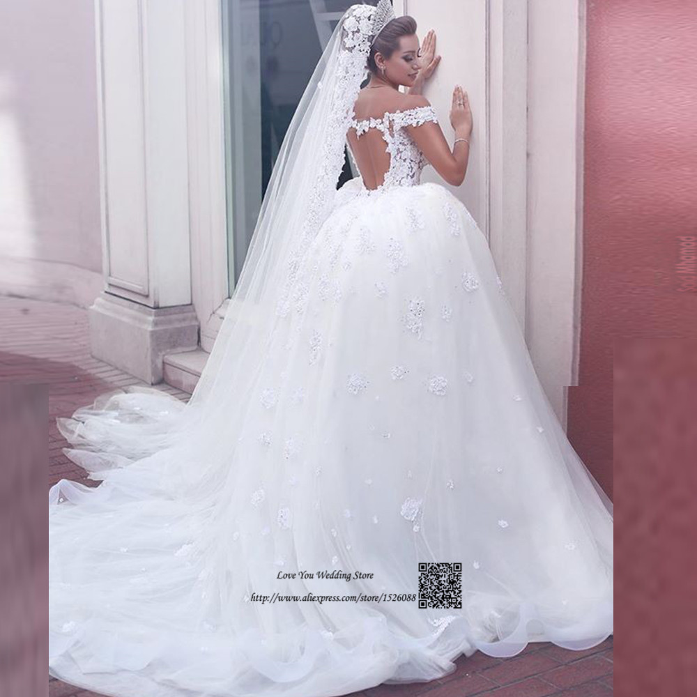 Arabic Turkey Wedding Gowns Lace Ball Gown Wedding Dresses Vintage ...
