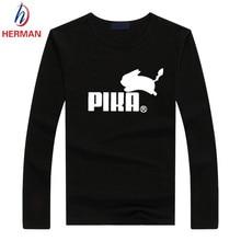 Sommer und Herbst Langarm Pokemon Go Print t-shirt Männer und Frauen Pika Pika T-shirt Pikachu Kleidung Für Kinder, PY054