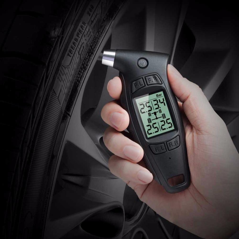0~ 87psi / 6bar Portable Digital Tire Pressure Gauge LCD screen Ergonomic Handle TC-01 + / - 1.5psi 0.1bar 2017 Top Sale termica ah 6 300 lcd tc