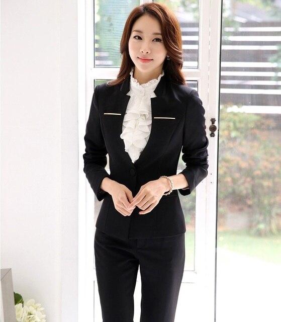 Uniforme Sottile di Disegno Elegante Formale Modo Femminile Nero xtXxwqP