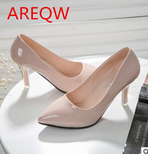 2016 summer new women's shoes shallow mouth pointed high-heeled shoes Europe station Shoes b1