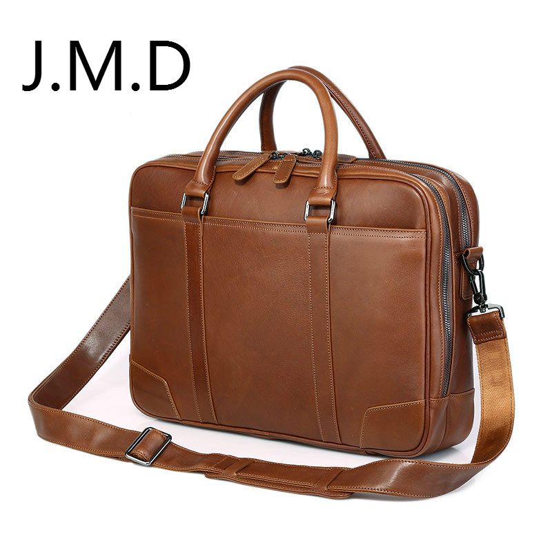 JMD Mens Brown Laptop Bag Handbag Genuine Leather Top Handbag Womens bag 7348BJMD Mens Brown Laptop Bag Handbag Genuine Leather Top Handbag Womens bag 7348B