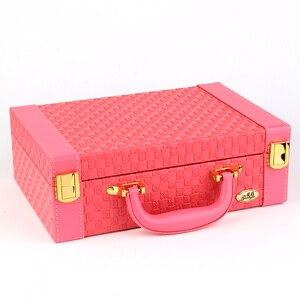 Image 5 - Guanya przenośny pleciony wzór naszyjnik biżuteria opakowanie do przechowywania pudełko na naszyjnik pierścionki kolczyki organizator Case dla dziewczyny prezent
