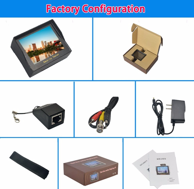 3-5-inch-TFT-LCD-MONITOR-COLOR-CCTV-Security-Surveillance-CAMERA-TESTER factory configuration picture