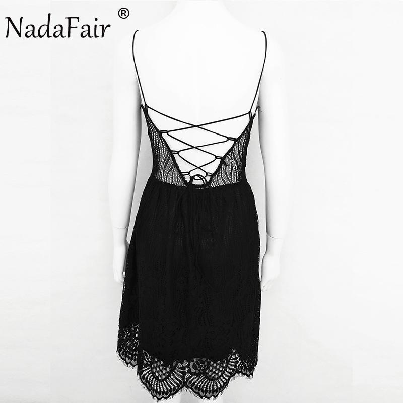 HTB1buyRaiERMeJjSspjq6ApOXXa9 - FREE SHIPPING Party Dress Sleeveless Lace-up Backless V Neck White Black 142