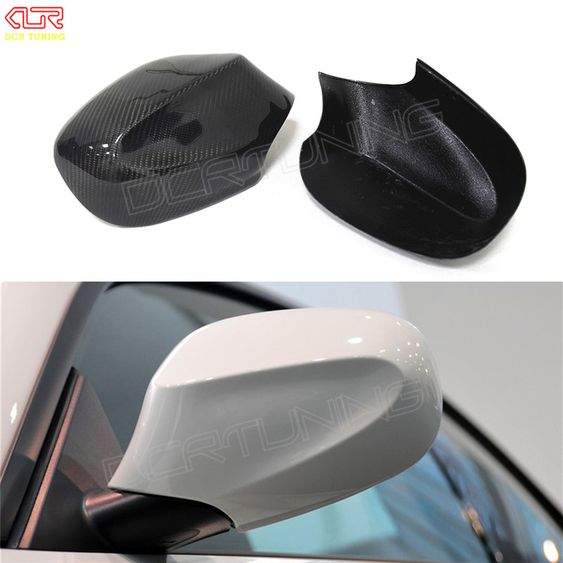 2 piece / pair Rear View mirror cover For BMW E87 E82 carbon lci 2010 2011 With Carbon Fiber Add on Style car stickers for ford mustang 2008 2009 2010 2011 2012 2013 add on style carbon fiber rear view mirror cover black finish
