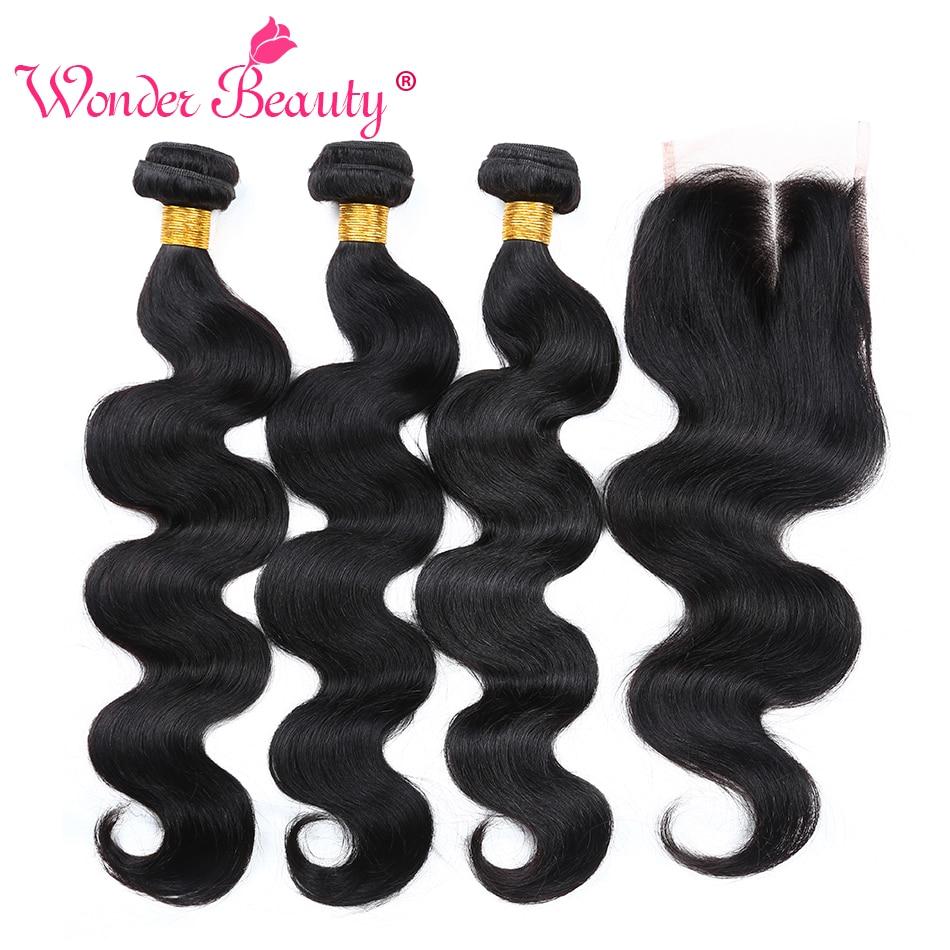 Wonder Beauty Hair Brazilian Body Wave no remy armadura de cabello - Cabello humano (negro)