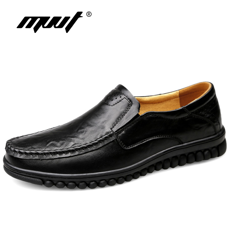 Handemad Genuine Leather Shoes Men Loafers Cow Leather Casual Shoes Male High Quality Men Flats Man