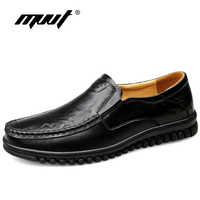 Handemad Genuine Leather Shoes Men Loafers Cow Leather Casual Shoes Male High Quality Men Flats Man Footwear Plus Size 47