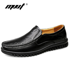 Handemad Genuine Leather Shoes Men Loafers Cow Leather Casual Shoes Male High Quality Men Flats Man Footwear Plus Size 47 недорого