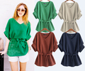 2017 Summer Plus Size XL-4XL 5XL Women Linen Tunic Shirt V Neck Big Bow Batwing Tie Loose Ladies Blouse European Female Top