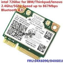Двухдиапазонная беспроводная сетевая карта AC 7260 7260AC 7260HMW wifi+ BT 4,0 bluetooth-адаптер mini PCI-E 867 Мбит/с lenovo 04X6090 04X6010
