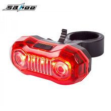 Bicycle Rear Light Bright 5 LED Battery Type Bike Tail Lamp Cycling Seat Post Lantern Cycling Lighting 3 Modes Rain Water Proof