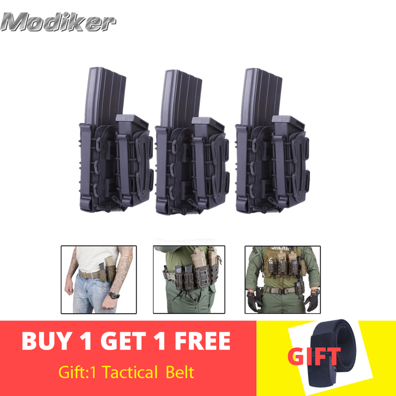 2/3 Pcs WST For Nerf Mag Pouch Molle Fastmag TPR Flexible For Ar15 For M4 For 5.56 For 7.62 Storage Magazine