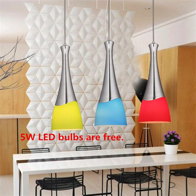 Modern LED Pendant Lamps Iron Industrial Loft Hanging Lights Fixtures American Style Dining Living Room Restaurant Droplights