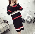 2017 new female girls two-piece Sweater Women Spring Knitted sweaters And Pullovers Long Sleeve Pull Femme Slim winter coat
