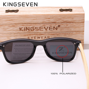 Image 5 - KINGSEVEN 2019 prawdziwe bambusowe okulary przeciwsłoneczne drewniane spolaryzowane drewniane okulary UV400 markowe okulary przeciwsłoneczne drewniane okulary przeciwsłoneczne z drewnianym etui
