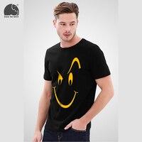 EnjoytheSpirit חיוך שובב מודפס חולצת מותג גברים בגדי מותג קיץ ג 'רזי יצירות אמנות הומור שחור טי גברים חולצות מקרית