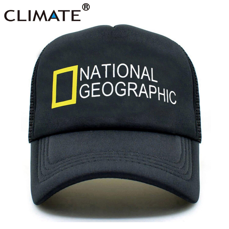 CLIMATE National Geographic Trucker Caps Cap Men Hat New Summer Black Caps Hip Hop New Baseball Mesh Net Trucker Cap Hat for Men