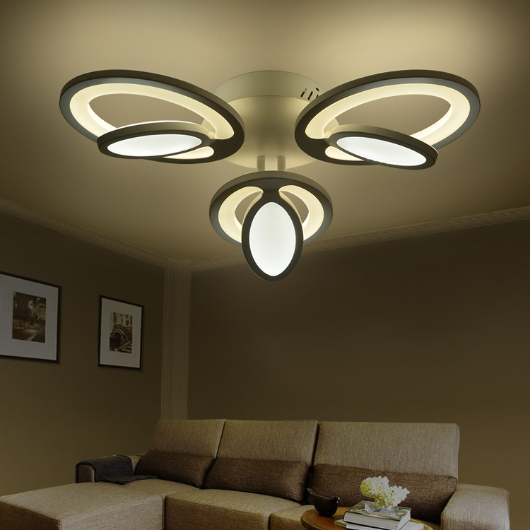 ФОТО LED Nordic Acrylic Alloy LED Lamp.LED Light.Ceiling Lights.LED Ceiling Light.Ceiling Lamp For Bedroom Dinning Room