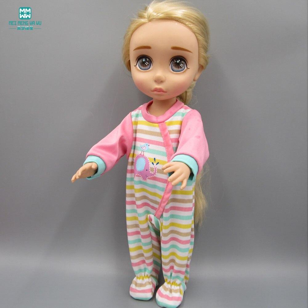 Odjeća za lutke odgovara 16-inčnom salonu lutke prugastog komada - Lutke i pribor - Foto 2