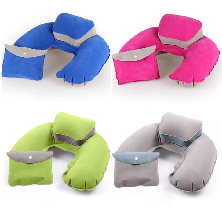 2016 Portable Folding Inflatable Neck Air Cushion U Shape Neck Travel  Pillow Comfortable Business Trip Pillow Outdoor Office