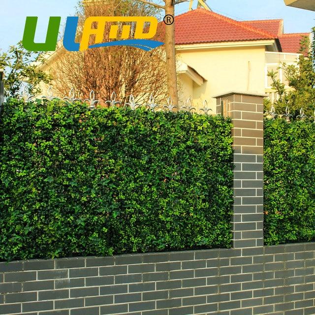 uland 25x25 cmpc artificial boj hedge hierba mate uv paneles de valla de jardn - Valla De Jardin