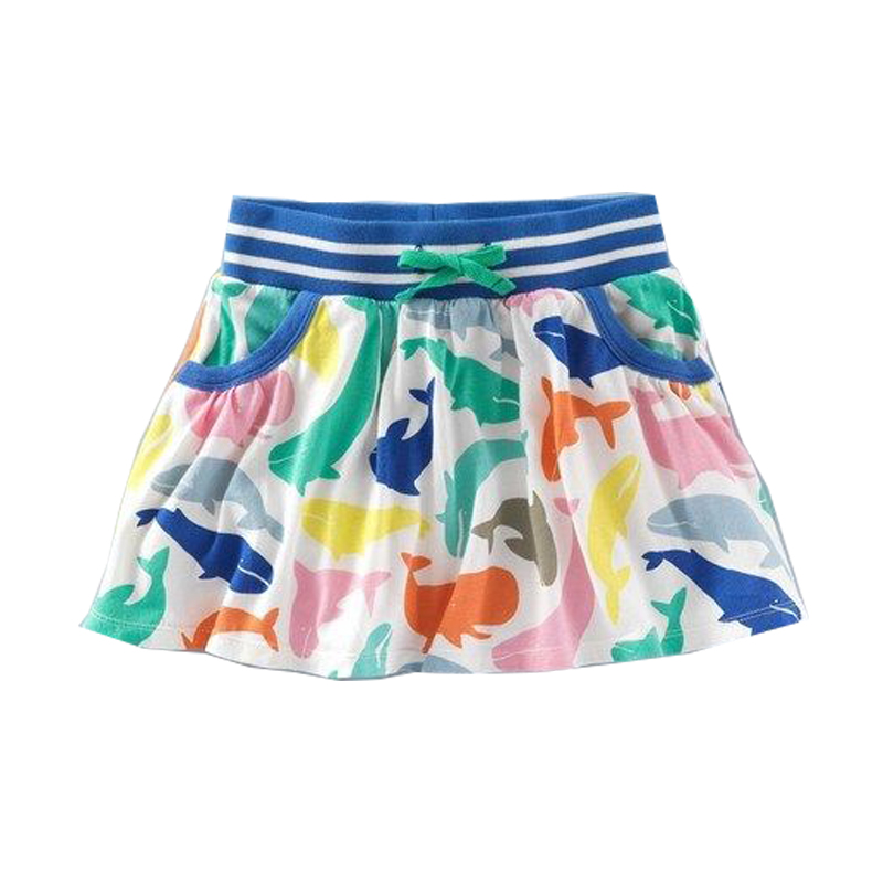 Girls Skirts Pure Cotton 2017 Brand Summer Robe Fille Enfant Tutu Skirt Kids Clothes Character Print Children Pettiskirt