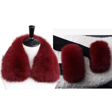 Fur Collar Woman Sleeve Warm Coat  And Sleeves Free Shipping Fur Scarf  Natural Real Fox Fur Scarves Collar L30
