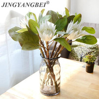 3Pcs Lot Artificial Africa Protea Cynaroides Flowers Flores Branches For Fall Wedding Decorative Wreath Plants Table