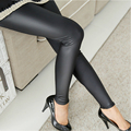 Women leggings faux leather slim Lady leggings plus size High elastic sexy pants leggins women stretch waist pants S-XXL