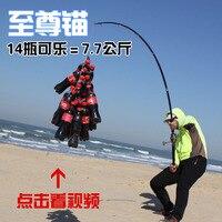 Carbon anchor rodhard hanging fish pole